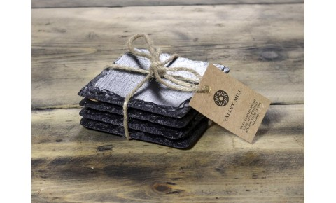 6 x Square Welsh Slate Coasters