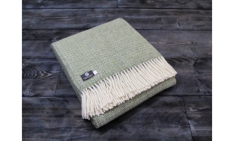 Illusion Green Grey Welsh Blanket
