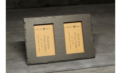 Welsh Slate Double Photo Frame