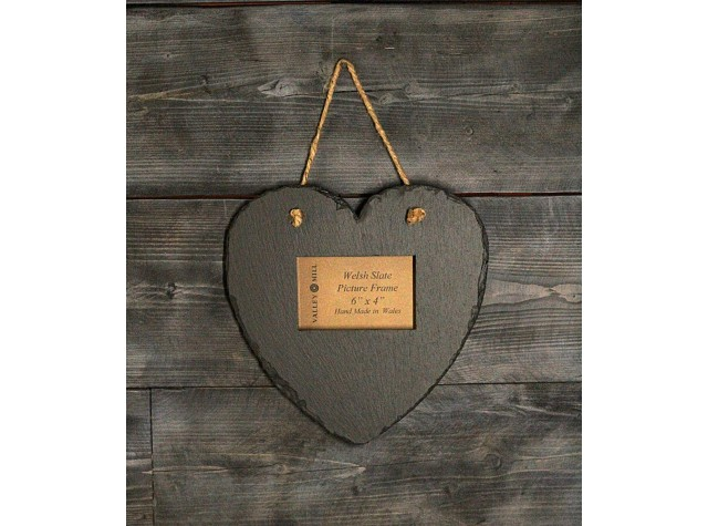 Welsh Slate Heart photo  Frame