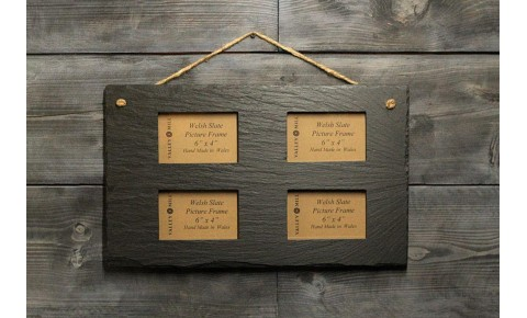 Welsh Slate Quadruple photo  Frame - Landscape