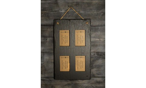 Welsh Slate Quadruple photo Frame - Portrait