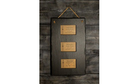 Welsh Slate Triple photo Frame - Portrait